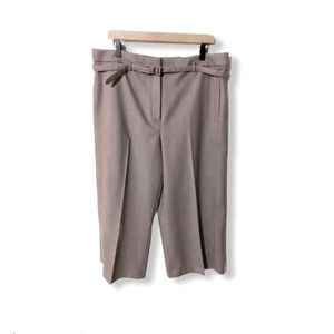 Ann Taylor Belted Wide Leg Marina Pant.